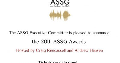 Tickets on Sale now for the 20th ASSG Awards