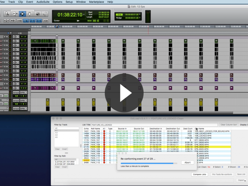 Sounds In Sync show how you can reversion a project with EdiLoad and Pro Tools